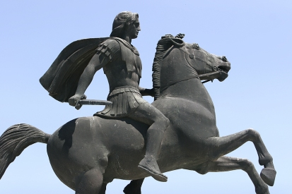 sculpture of alexander the great in thessaloniki greece