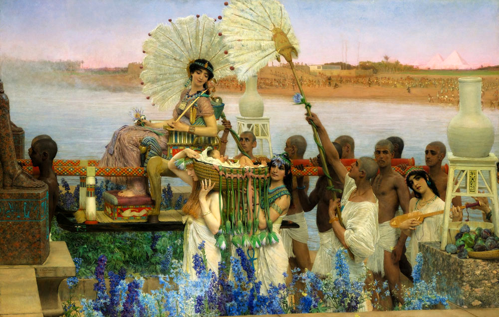 Sir Lawrence Alma-Tadema 1904 Moses_-_Alta-Tadema