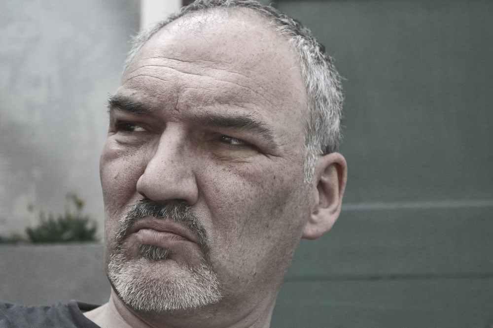 man head face portrait