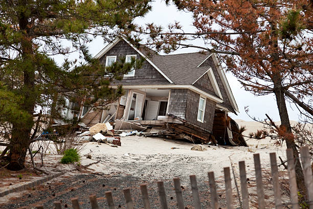 house destroyed by storm istockphoto