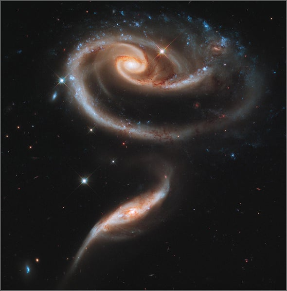 interacting galaxies photo by scientific american