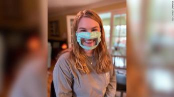 Creative coronavirus mask photo from CNN
