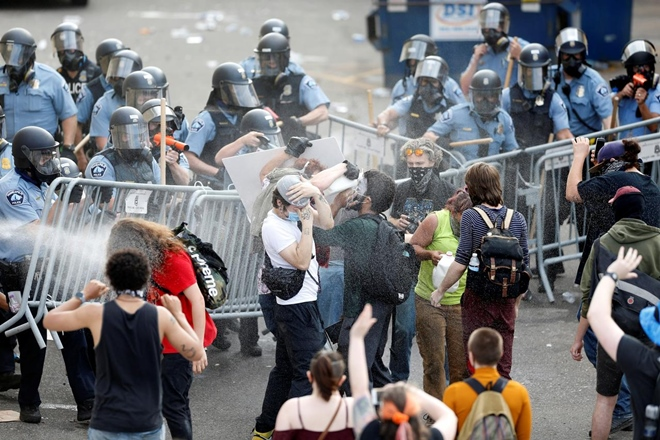 Rioting Photo by The Financial Express