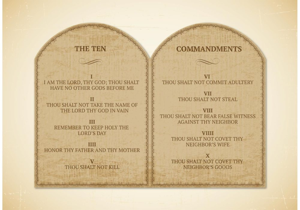 Ten commandments-photo from vecteezy